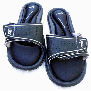 NIKE Memory Foam Black Velcro Slide Sandal